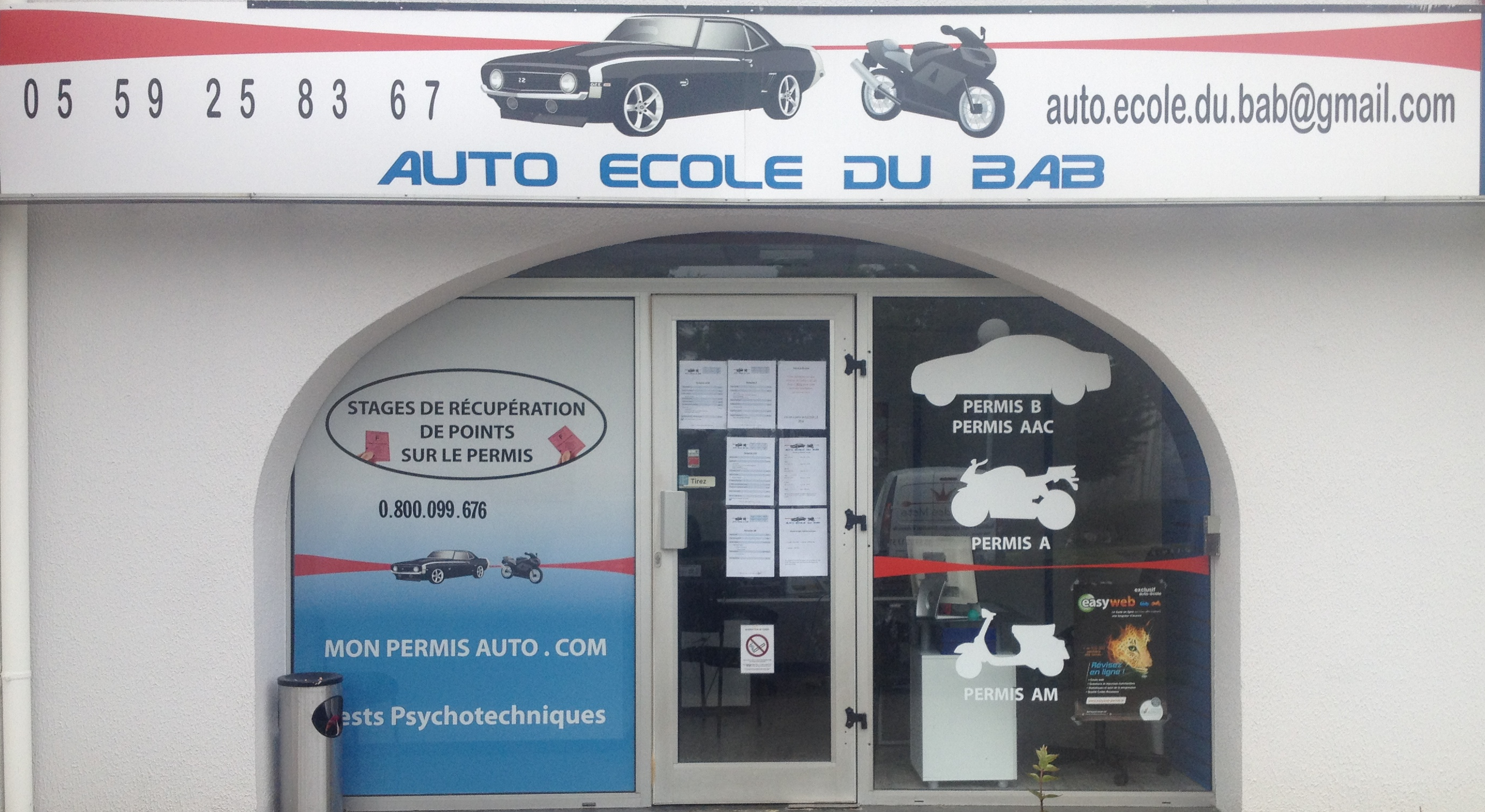 Auto ecole bab anglet - Carrefour bab2 horaires ...